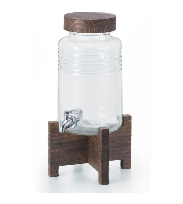 ☘小宅私物☘ ADERIA 日本製附木架燒酌瓶 5L 大容量玻璃冷水壺 派對壺 Party壺 飲料壺 附專屬木架
