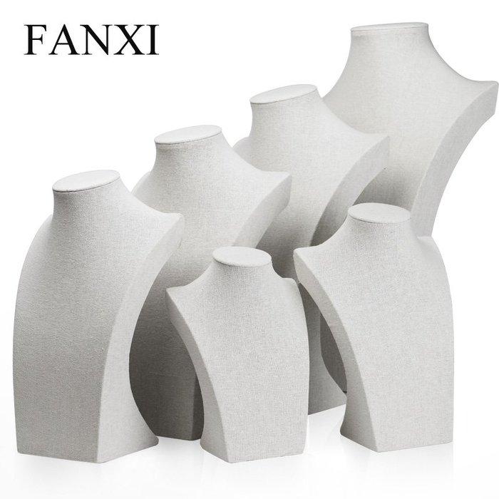 韓國Baby~FANXI凡西韓國麻布頸模項鍊展示架人像脖子珠寶首飾展示道具RX020