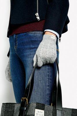 MISHIANA 品牌 JACK WILLS 女生款AMARIS CABLE GLOVES ( 新款上市.特價出售 )