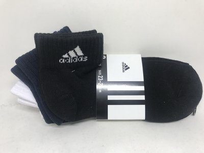 日本 adidas 基本款運動短襪三件組