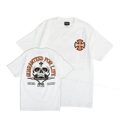 【 K.F.M 】INDEPENDENT GUARANTEED FOR LIFE Tee 滑板輪架元老級 美國圓筒Tee