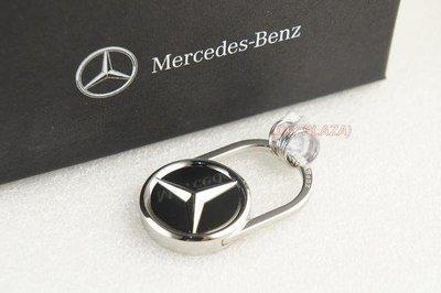 【DIY PLAZA】M-Benz 賓士 原廠 鑰匙圈 黑色 LOGO版 A B C E S M GLC CLA 德國製