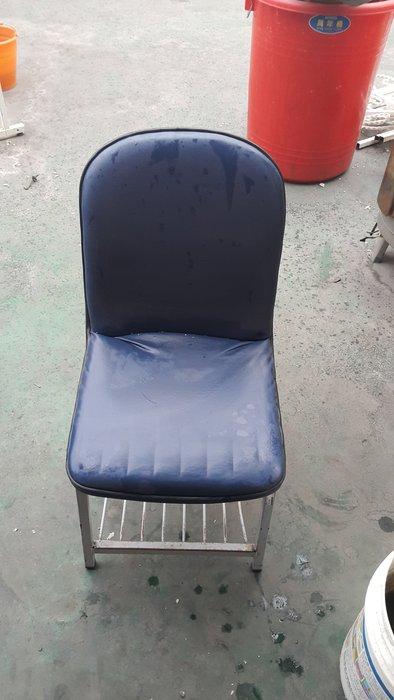 樂居二手家具 全新中古傢俱賣場 F0515BJJ1 藍色皮面書桌椅*課桌椅 電腦椅 餐椅 大學椅 洽談椅 二手家具買賣