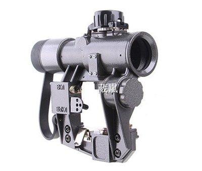 [01] SVD 1X30 狙擊鏡(紅外線 外紅點 內紅點 激光 快瞄 定標器 瞄準鏡 紅雷射 綠雷射 雷射 槍燈 瞄具