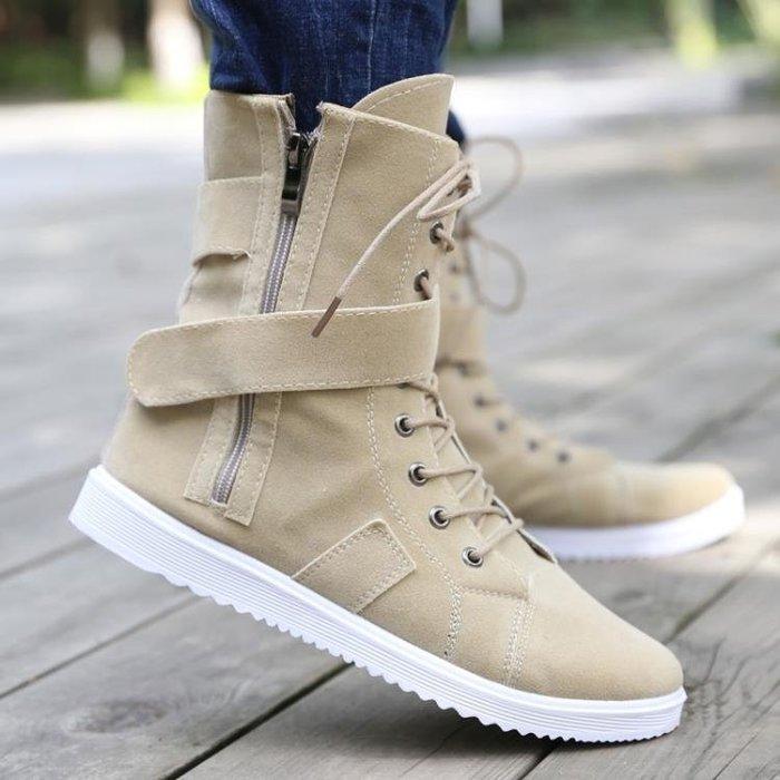 夏季韓版馬丁靴男士皮靴潮流短靴男鞋高幫男靴馬靴夏季學生百搭靴