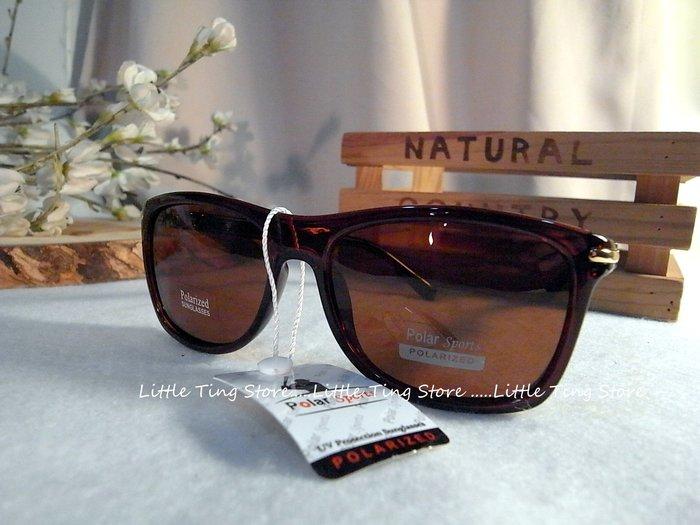 簡約膠框 Polarized寶麗來UV400咖啡茶色太陽眼鏡防風防曬眼鏡墨鏡 防紫外線偏光鏡眼鏡 適合臉部較小