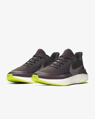 [新挑戰] NIKE LEGEND REACT 2 SHIELD 深灰 紫 螢光綠 反光 防潑水 男慢跑鞋 現貨 免運