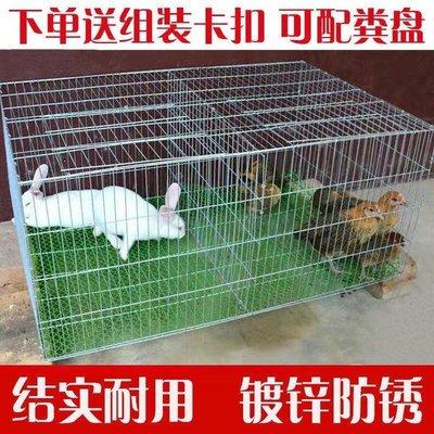 全館免運 兔子籠子特大號兔籠子家用雞籠子家用大號鴿子籠子加粗加密養殖籠[養殖]-9964