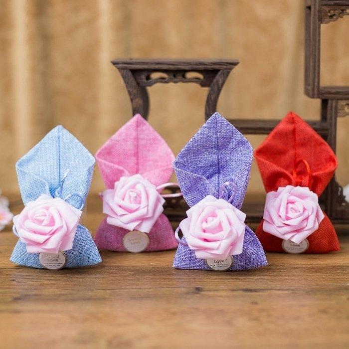 奇奇店-糖果禮盒喜糖布袋婚慶韓式浪漫創意糖盒美式婚禮禮堂個性玫瑰糖袋#唯美 #立體浮雕 #歐式風格