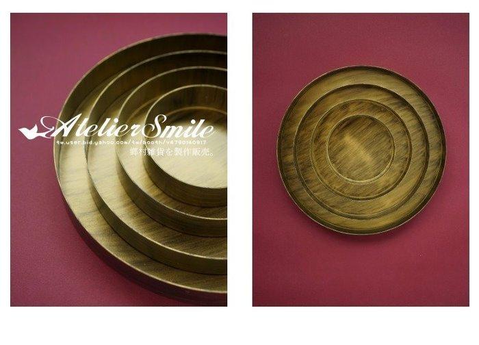[ Atelier Smile ] 鄉村雜貨  北歐風 圓形桌邊收納托盤 復古幾何金屬果盤 # M 20.5 (現+預)