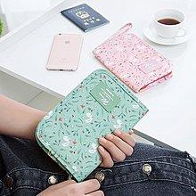 Color me【G10-1】多功能收納錢包 印花 韓版 護照包 旅遊 出差 皮夾 長夾 手機 筆袋 動物 卡通 證件包