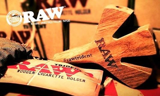 GOODFORIT / 西班牙RAW Trident Wooden Cigarette Holder天然三叉藤木煙架