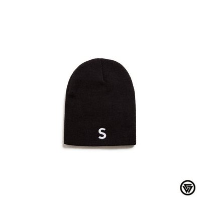 (MARVELOUS) SQUAD 2016 A/W S電繡毛帽 S Embroidery Knit Beanie 黑色