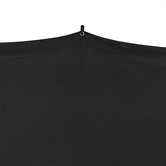 SAVAGE 5 x 12英尺(1.52m x 3.66m) 黑色 行動背景布 附腳架 附收納袋 棚拍 外拍 攝影