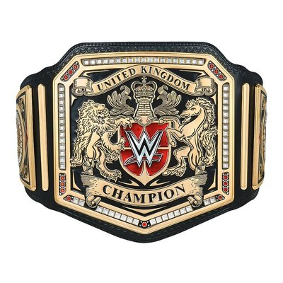 ☆阿Su倉庫☆WWE United Kingdom Championship Replica Belt 英國冠軍金屬版