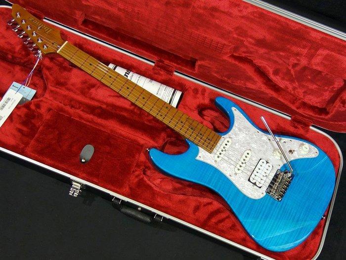 【名人樂器Ibanez旗艦店】日廠 Ibanez AZ2204F 藍色虎紋電吉他 音色手感極佳