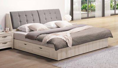 【生活家傢俱】SY-21-(1+2)※潔西5尺雙人床【台中16900送到家】床頭箱+抽屜床底 插座 木心板 台灣製造