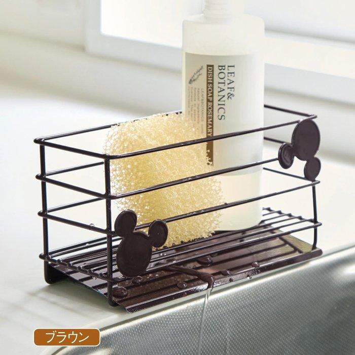 迪士尼DISNEY《預購》米奇 不鏽鋼洗碗精菜瓜布瀝水架~日本製~心心小舖