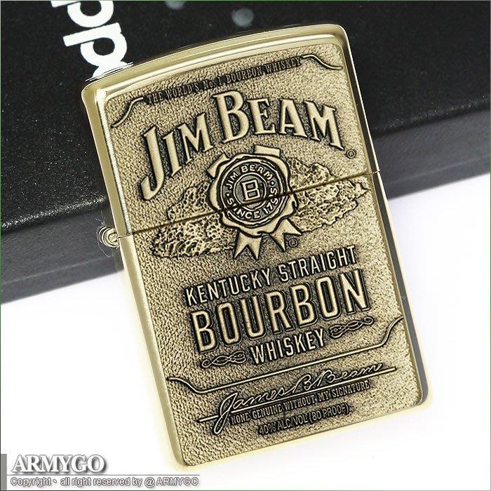 【ARMYGO】ZIPPO原廠打火機-Jim Beam系列-NO.254BJB.929