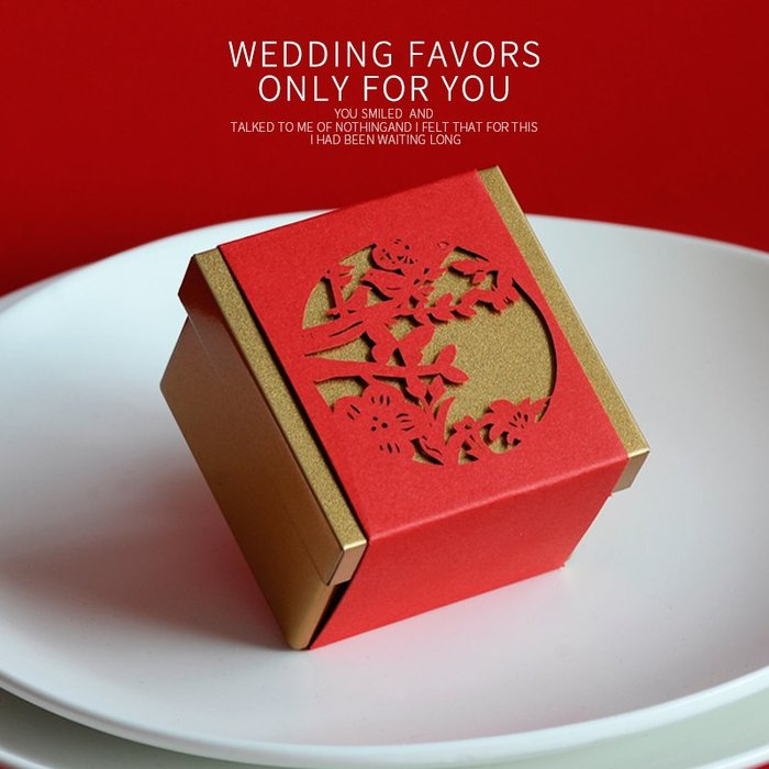 衣萊時尚-熱賣款  喜糖盒 創意馬口鐵中國風婚慶用品 個性結婚糖果盒子T11