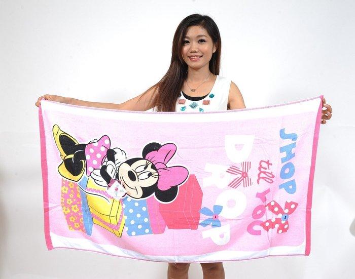 米奇海灘巾~台灣製~嬰兒浴巾。米妮浴巾.兒童浴巾米老鼠浴巾