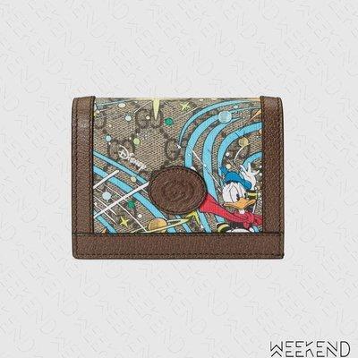 【WEEKEND】 GUCCI x DISNEY 迪士尼 聯名 唐老鴨 Wallet 皮夾 卡夾 短夾 648121