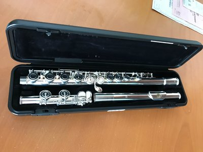 Yamaha Flute YFL-212 Sliver Plated Split E, with case