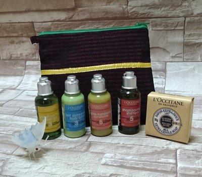 L'OCCITANE歐舒丹旅行組 (洗髮+潤髮+沐浴+身體乳)35ml  香皂