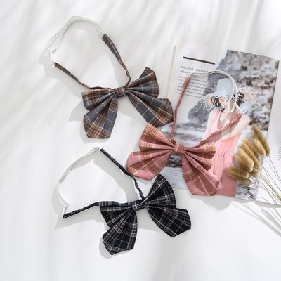 情趣內衣 角色扮演 可愛蝴蝶結領結格子學生情節可脫卸情趣配飾領帶