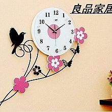 【優上精品】小鳥田園鐘表客廳掛鐘 現代個性藝術時鐘靜音掛表(送無痕(Z-P3097)