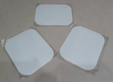 台中,太平電腦維修 - 全新白色滑鼠墊 (一組三個/限自取)