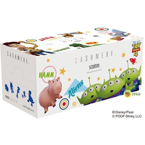 【JPGO】預購-日本製 SCOTTIE 迪士尼Disney 盒裝 抽取式面紙/衛生紙 220抽~玩具總動員#980