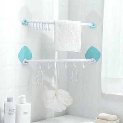 掛鉤 無痕黏膠強力門後掛鈎2個 衛生間廚房浴室無痕掛鉤 可調節6連掛鈎免釘鈎子