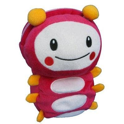近全新 正版momo親子台 momo蟲 25cm高 絨毛立體背包