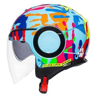 預購,訂金3500.尾款3500。手掌 半罩 安全帽 羅西 英文 醫生字樣 rossi  the doctor AGV Orbyt AGV jet helmet