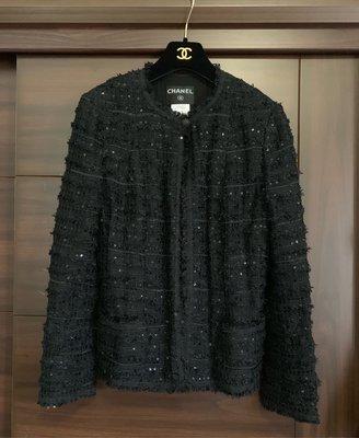 CHANEL 經典絕美毛呢小黑外套