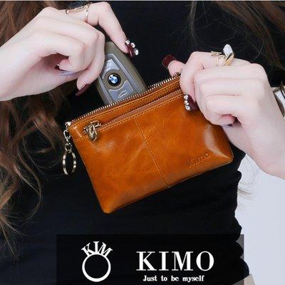 牛皮零錢包硬幣包女 真皮小錢包 短款學生拉鍊手包拿鑰匙包