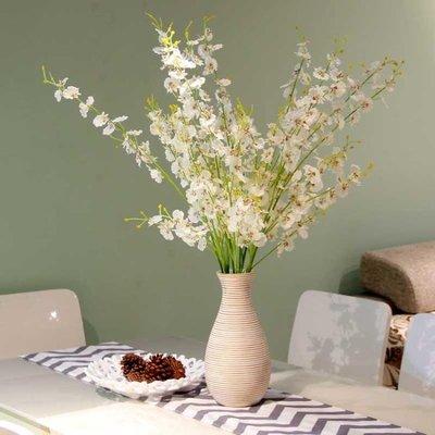 人造花 仿真花跳舞蘭干花客廳套裝迎春花假花擺設高品質絹花餐桌裝飾擺件 『快速出貨』
