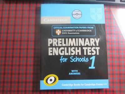Preliminary English Test for Schools 1 (附光碟無畫記)9780521170604