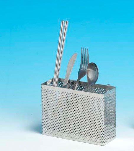 ☆成志金屬廠 ☆  s-60-06 頂級精品*304不銹鋼,沖孔板式筷子籃 刀叉籃 不鏽鋼置物架