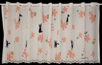 現貨不必等 送舊迎新 新生活 日本製 短門簾 窗簾 咖啡簾 黑貓 魔女宅急便  居家裝飾 C