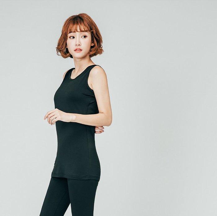 【極致舒適保暖衣】超舒適女長版背心黑色現貨,輕薄材質富彈性,內裏刷毛,勝發熱衣、衛生衣