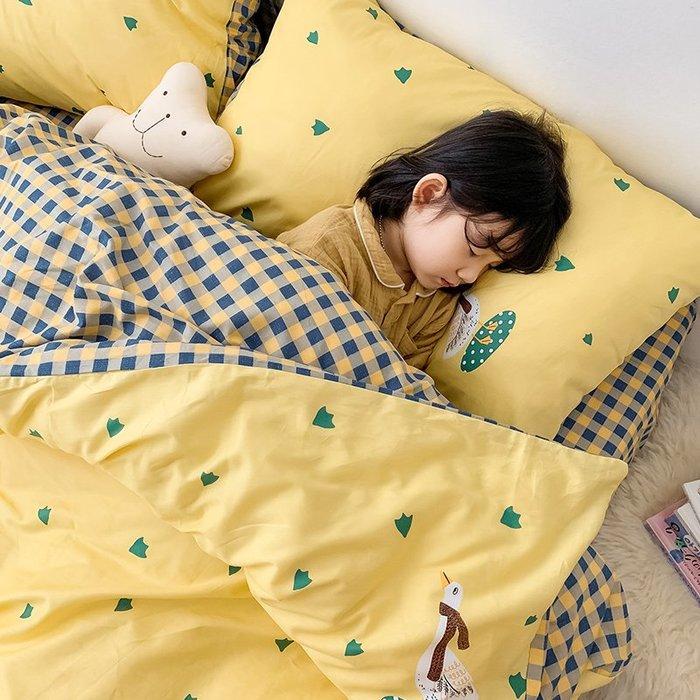 西柚姑娘雜貨鋪☛熱賣中#四件套全棉純棉兒童床單被套網紅款學生宿舍三件套少女心床上用品