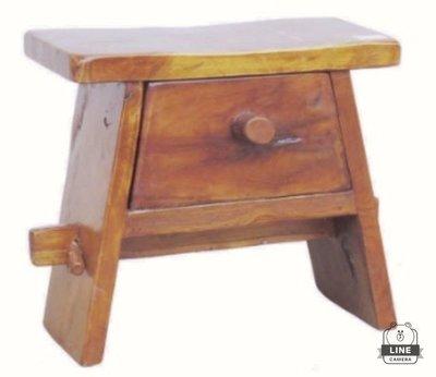 柚木一抽櫃 一抽椅