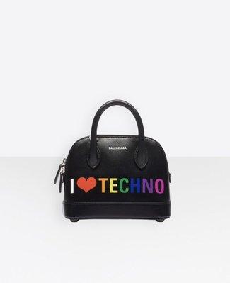 **Ohya精品代購** 2018 全新代購  BALENCIAGA Ville Top Handle XXS  I Love Techno
