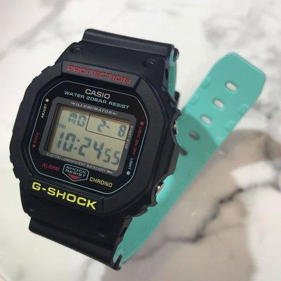 DW-5600CMB-1 G-shock 黑色配湖水藍