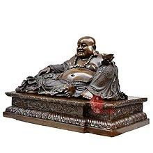 【凡了居】彌勒佛擺件笑佛佛像純銅彌勒菩薩托寶佛招財工藝品 雙福683