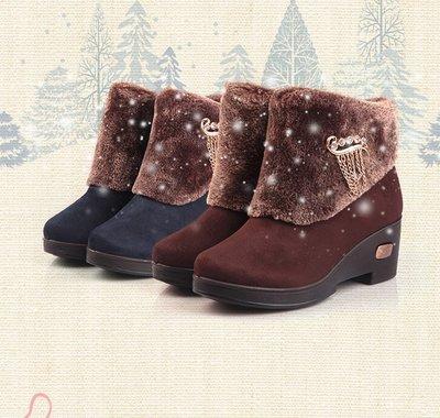 ☆女孩衣著☆冬季新品正品老北京布鞋女鞋坡跟厚底棉鞋時裝女鞋(NO.59)