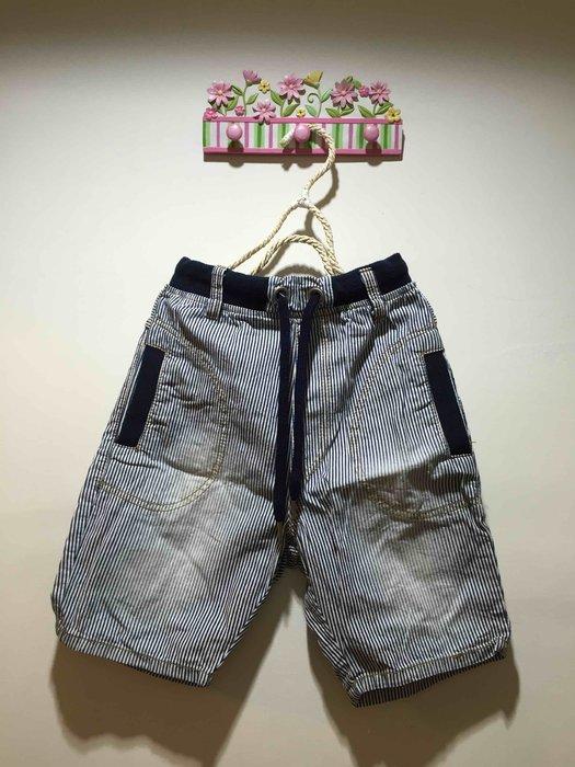 二手商品~韓國直條紋牛仔垮褲