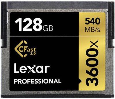 九晴天 租記憶卡、租相機 租鏡頭 租攝影機 出租~Lexar CFast 2.0 128GB 540MB/s